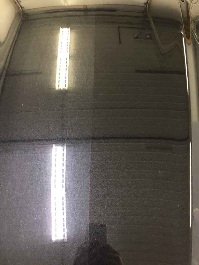 Before and after car polish